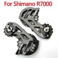 RACEWORK 17T Bike Carbon fiber Ceramic Bearing cycling Pulley Wheel Set Rear Derailleurs Guide Wheel for shimano R7000|Bicycle Derailleur| |  -