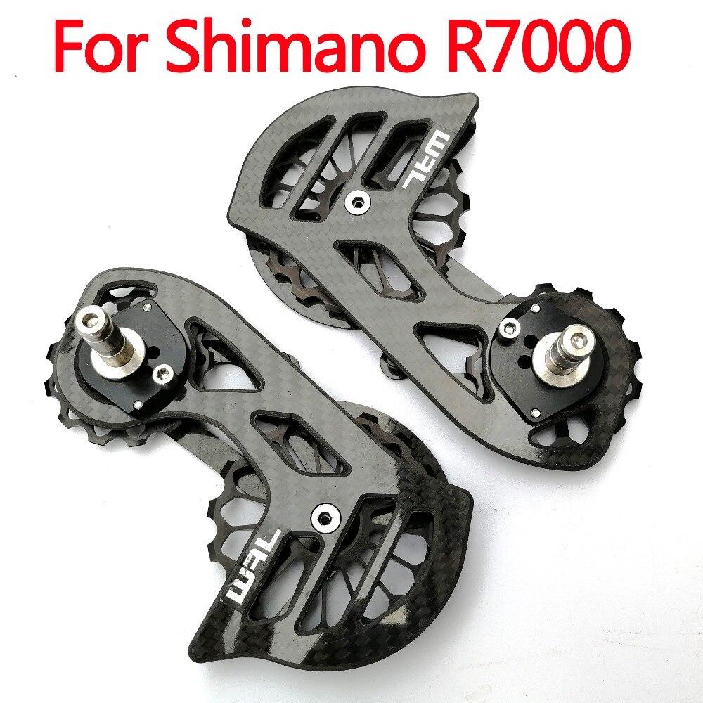 RACEWORK 17T Bike Carbon fiber Ceramic Bearing cycling Pulley Wheel Set Rear Derailleurs Guide Wheel for shimano R7000