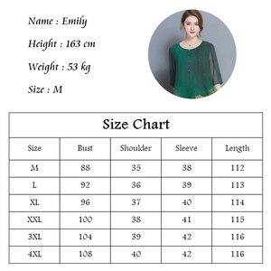 Image 5 - نمط جديد الربيع و الصيف جودة فستان الإناث حجم كبير فضفاض طباعة فستان كامل مادة لينة خمسة أرباع كم فستان M 4XL