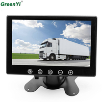 GreenYi 7Inch Car Monitor TFT LCD 800*480 Mirror Monitor 2 Way Video Input For Rear View Backup Reverse Camera DVD VCD DC 12V