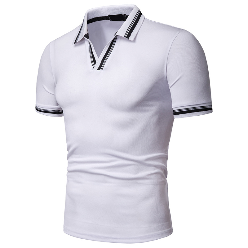 Brand Clothing Men Polo Shirt Men Business Casual Male Polo Shirts V-Neck Short Sleeve High Quality Classic Brand Mens Polo Tops