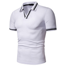 Brand Clothing Men Polo Shirt Business Casual Male Shirts V-Neck Short Sleeve High Quality Classic Mens Tops