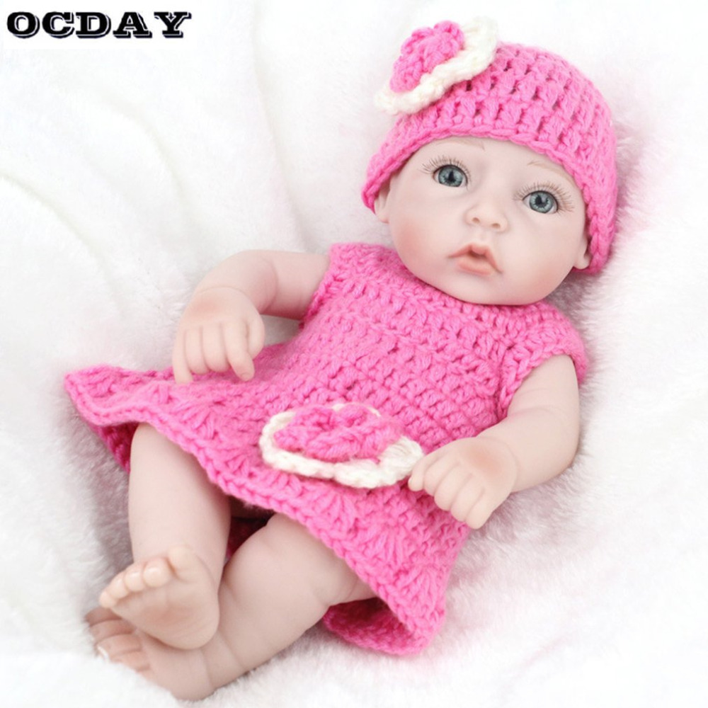 Soft Silicone Vinyl Dolls 28cm Reborn Baby Girl Boy Handmade Lifelike Bebe juguetes Babies Toys for Children bonecas with Cloth free shipping 70 cm 28 vinyl and pp cotton reborn babies girls large size girls toddler soft silicone baby dolls toys for child
