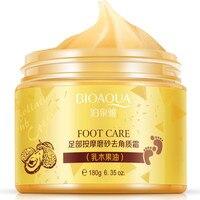 12Pcs BIOAQUA Foot cream Shea Butter Moisturizing Whitening cream Foot Care Exfoliating Anti dry scrub ageless skin care