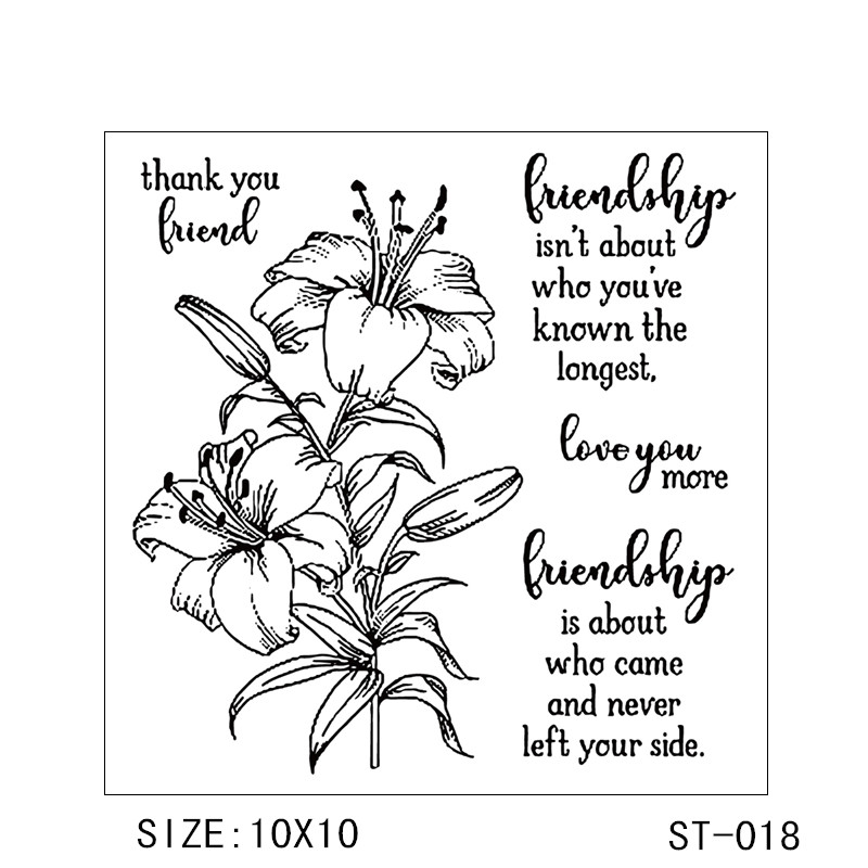 AZSG Flower Stamps Transparent Silicone Clear Stamps seal for DIY Scrapbooking Card Making Photo Album Decoration Supplies in Stamps from Home Garden