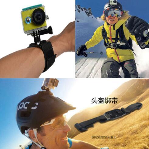 Para Gopro accesorios para ir pro hero 7 6 5 4 3 kit de 3 selfie palo para Eken h8r /funda para xiaomi yi EVA - 4