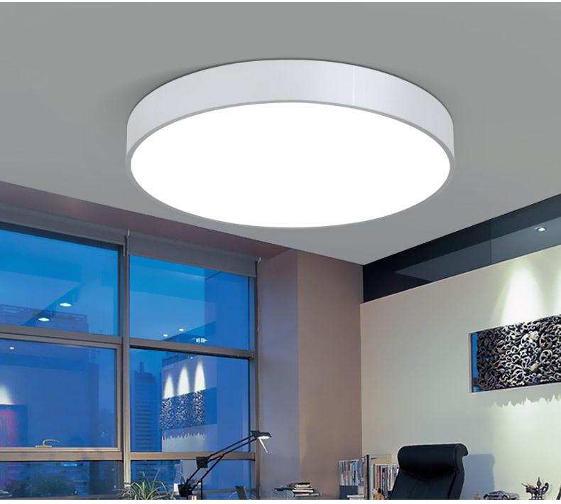 Creative Round Led Ceiling Lamp Living Room Bedroom