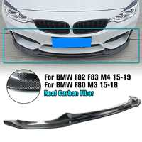 Real Carbon Fiber Front Lip Auto Racing Car Front bumper Lip Spoiler for BMW F80 F82 F83 M3 M4 2015 2018