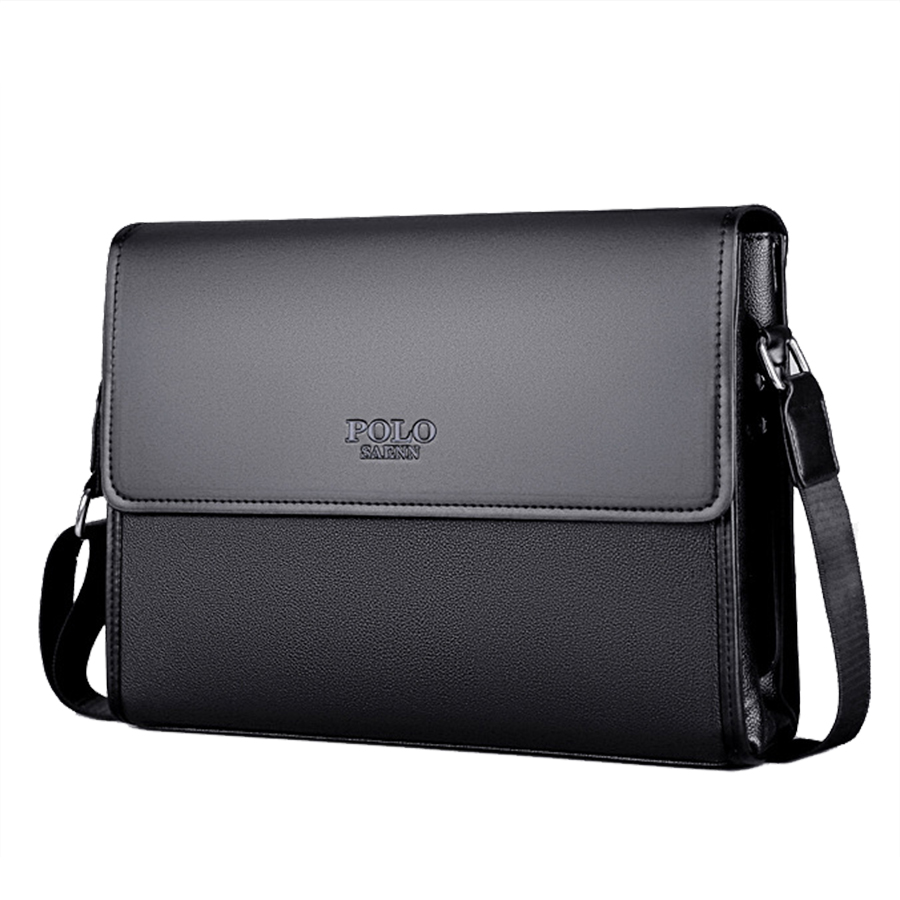 Famous Brand Leather Men Bag Male Messenger Bag Black Luxury Designer iPAD Shoulder Bags Large Capacity Men's Crossbody Bags