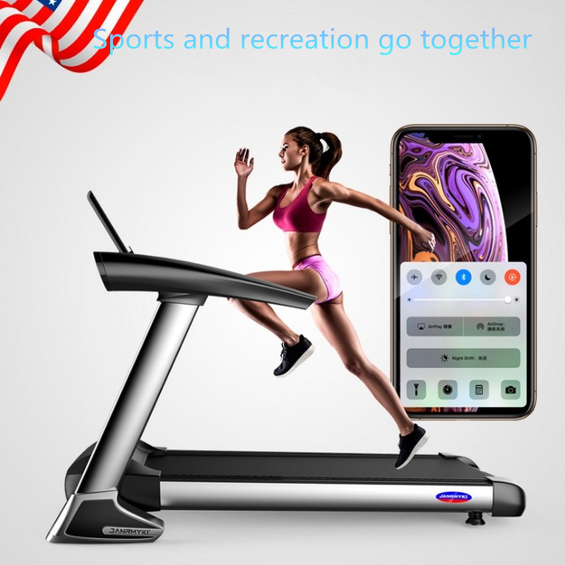 Tapis roulant pliant électrique de Bluetooth d'écran de couleur de HD pour l'exercice à la maison exécutent des Sports d'intérieur d'entraînement pour des tapis roulants de maison - 5