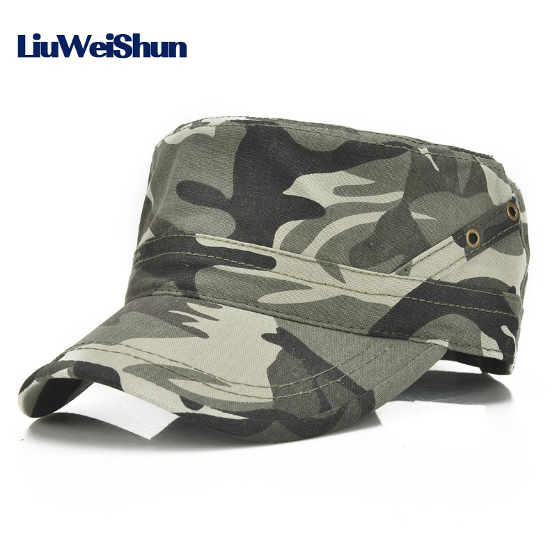 LWS  Classical Solid Military Hats For Men Women Cotton Army Hat Snapback  Caps Adjustable Outdoor Sport Flat Baseball Cap Gorra ใน  LWS  Classical  Solid ... ee5b46adbcee