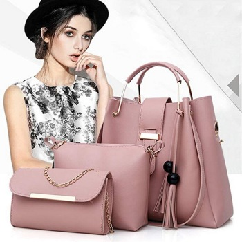 3 Pcs Women Handbag Set 2019 Messenger Bags Ladies Fashion Shoulder Bag Lady PU Leather Casual Female Shopper Tote Sac Femme #N
