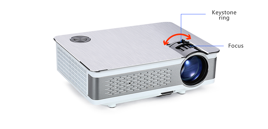 AUN Full HD Projector  AKEY5  1920x1080P, Upgraded 3800-6000Lumen(Peak)  (Optional Android 6 0 LED Projector Support 4K, WIFI)