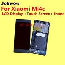 Hohe qualität für xiaomi mi4c lcd display + touch screen + rahmen + tools digitizer glaslinse assembly ersatz geben silizium fall