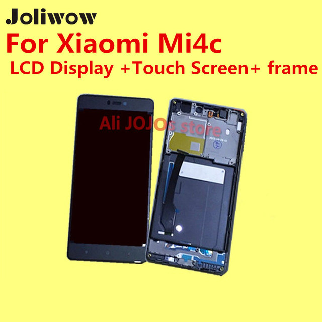 High Quality for Xiaomi Mi4c LCD Display +Touch Screen+ frame +Tools Digitizer Glass Lens Assembly Replacement Give silicon case