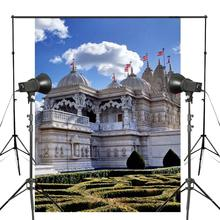 150x220cm Indian Style Teach Temple Photography Background Backdrop Studio Props Wall London Architecture