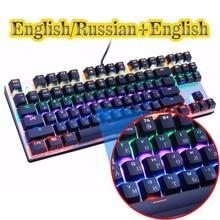 Zero Gaming Mechanical font b Keyboard b font Anti ghosting 87 104 LED Backlit Red Black