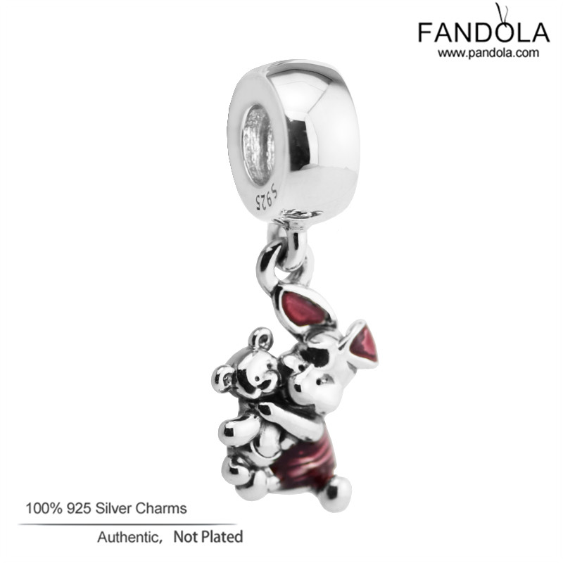 Authentic 925 Sterling Silver Piglet Animal Charm Beads Fit Charm Silver 925 Bracelet DIY Jewelry MakingAuthentic 925 Sterling Silver Piglet Animal Charm Beads Fit Charm Silver 925 Bracelet DIY Jewelry Making
