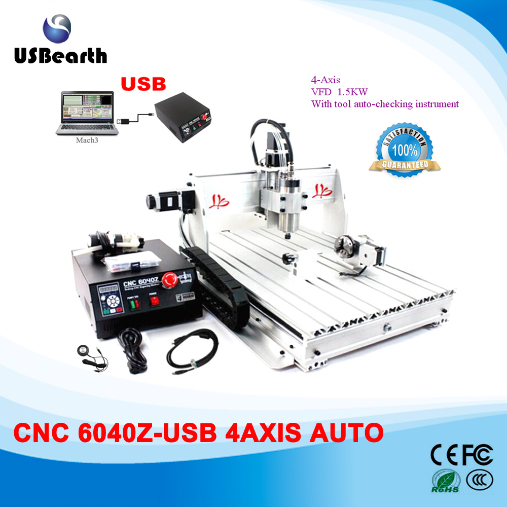 USB port CNC engraving machine CNC 6040Z-USB 4 axis CNC router 1.5KW spindle cnc machine drilling router  цены