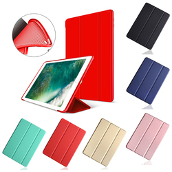 Case for iPad 2018 2017 9.7 Silicone Soft Back Cover for Apple iPad 2017 Case 9.7 Inch TPU For iPad A1893 A1822 Flip Smart Case