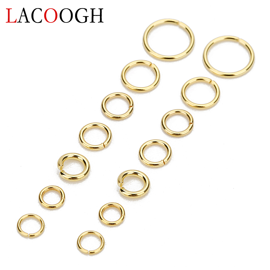 Wholesale 100pcs/lot Gold Color 1*5mm/0.8*5mm Round Split Jump Rings Open Link Loops Connectors For DIY Jewelry Making Findings
