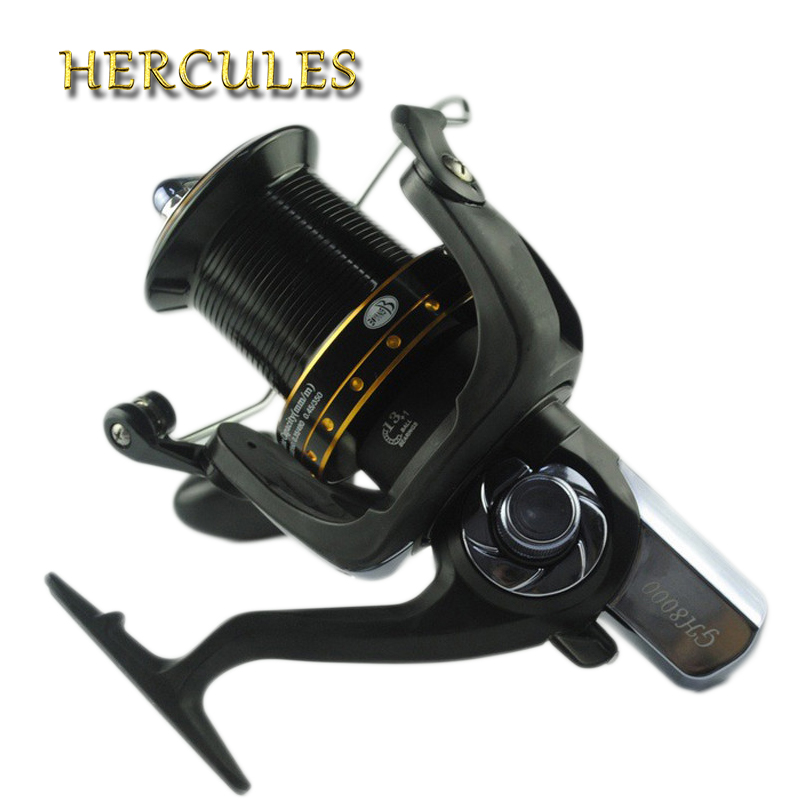 цена на Hercules Spinning Spool Fishing Reel 13+1 BB Ball Bearings 4.1:1 Sea Carp Reels Worm Shaft Distant Wheel carretilha de pescaria