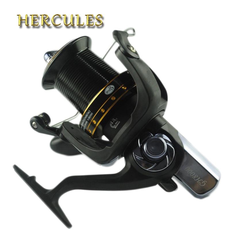 Hercules bobine de pêche filature 13 + 1 BB roulements à billes 4.1: 1 mer carpe bobines arbre à vis sans fin roue distante carretilha de pescaria