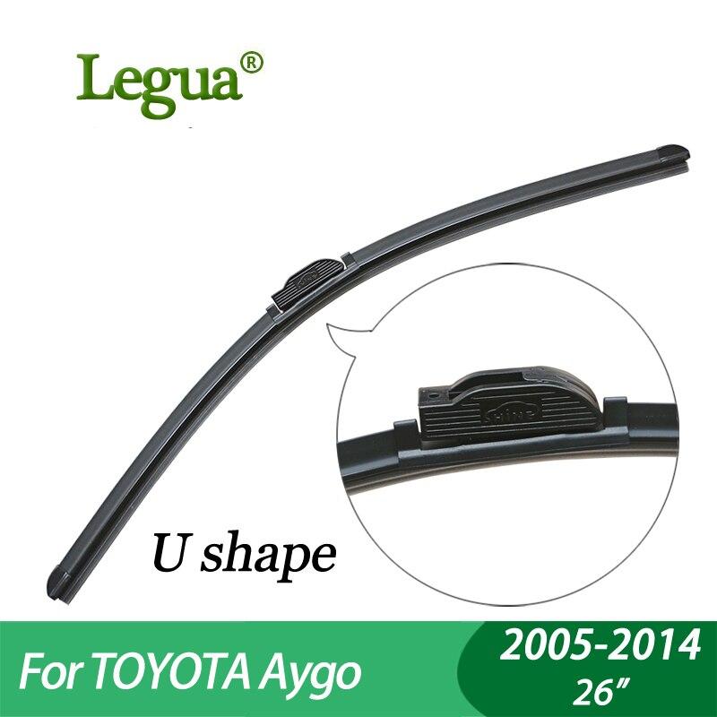 Legua lames D'essuie-Glace pour Toyota Aygo (2005-2014), 26 , voiture d'essuie-glace, Désossé, pare-brise d'essuie-glace, accessoire De Voiture