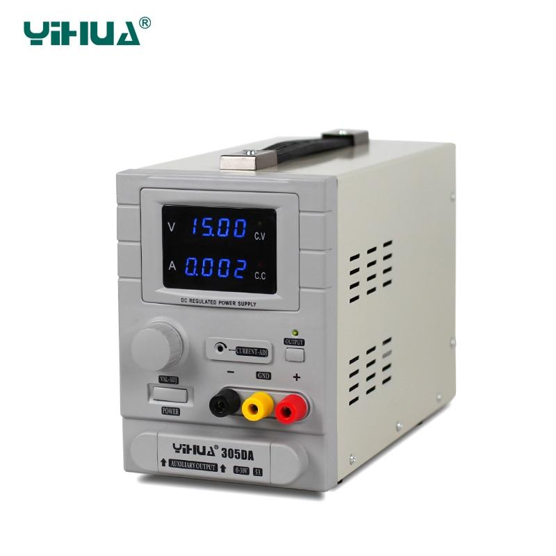 цена на YIHUA 305DA Overload Switching Mode Adjustable DC Power Supply 5A Regulate Power Supply