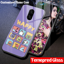 DIY Customized Case for OnePlus 5 5T 6 6T Tempered Glass Print any photo name quote simplely Hard Soft case 1+5 5t 6t