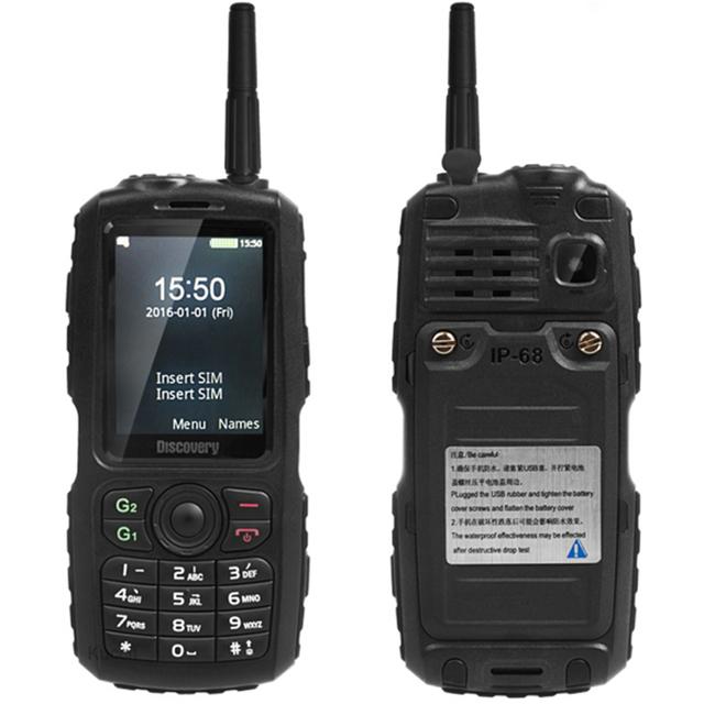 IP67 Resistente A Prueba de agua a prueba de golpes Teléfono Walkie Talkie UHF Radio A16 viejo teléfono Móvil Dual SIM GSM Superior Banco de la Energía sonim