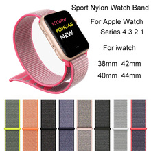Nylon Watch  Band For Apple Watch 4 3 2 1 Bracelet Strap For iwatch 44mm 40mm 38mm 42mm Sport Breathable Watchband Accessories sport nylon strap watch band for apple watch 42mm 38mm wrist bracelet woven nylon watchband for iwatch 2 1 edition accessories