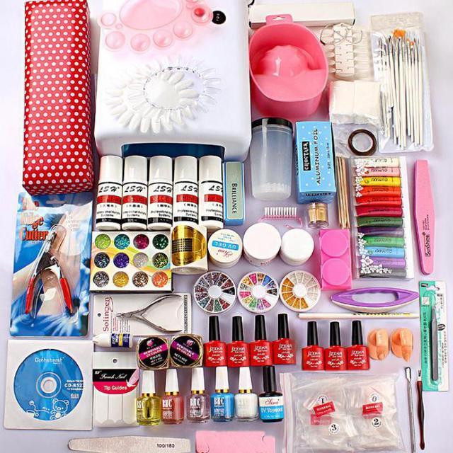 Full New Pro Acrylic Nail Kit 36w Uv Gel Lamp+ Uv Gel Nail Art Tools ...