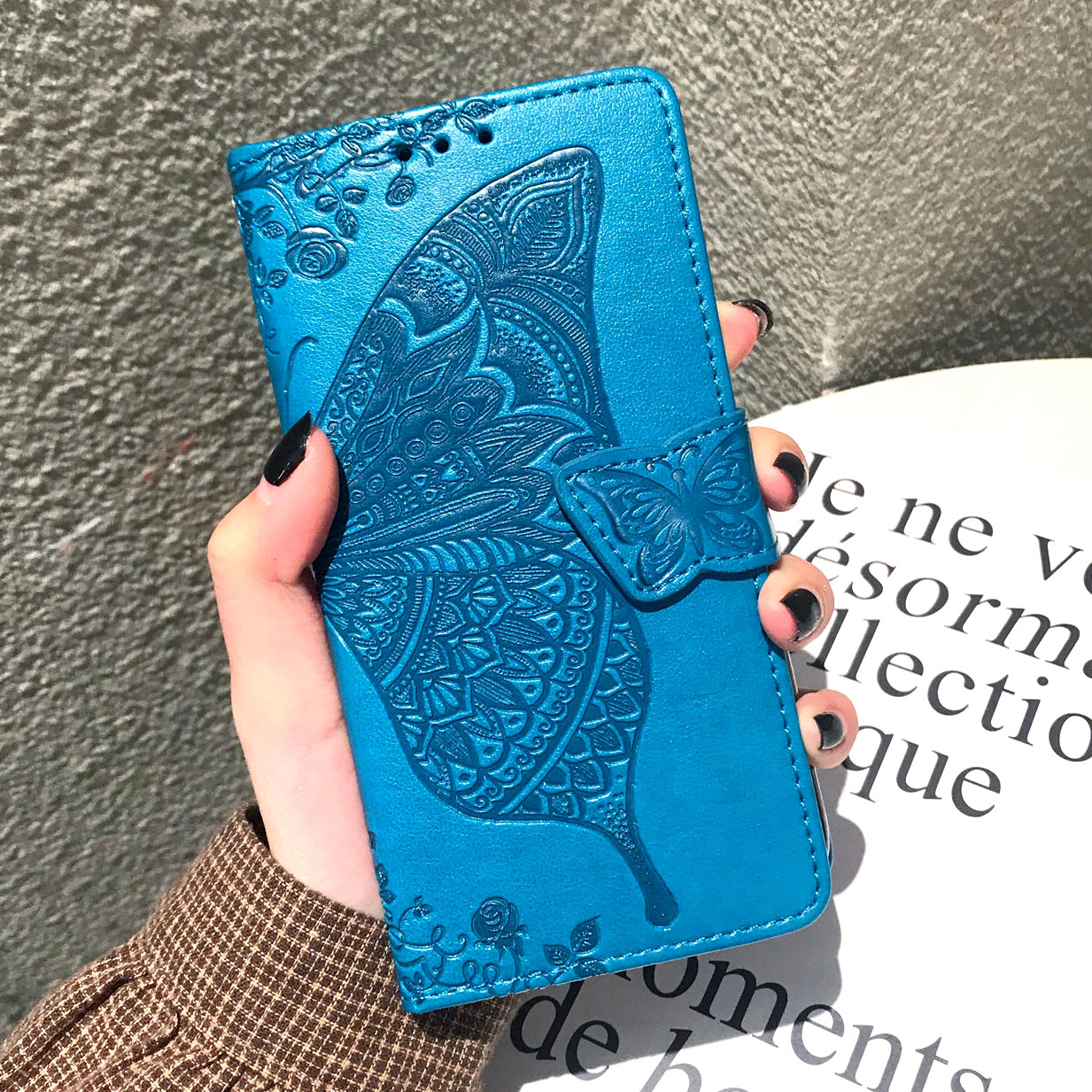 J4 Plus PU Leather Flip Case For Samsung Galaxy J4 Plus Phone Case For Samsung Galaxy J4 Plus 2018 J415F J415 SM-J415F J4Plus