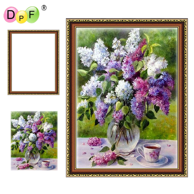 4e89021ef8 DPF DIY New Framed Diamond Embroidery clove 5D Round full Diamond Painting  Cross Stitch Rhinestone home Decor crafts Needlework