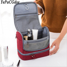 New travel large capacity waterproof mold proof makeup storage bag men and women portable dry wet separation hook wash