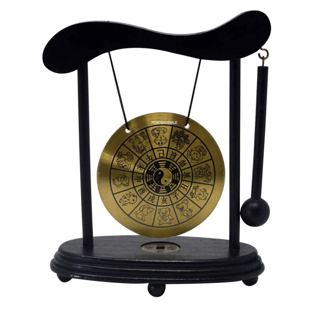 Zen arte bronze feng shui desktop zodiac gong w fengshuisale pulseira de corda vermelha w3359
