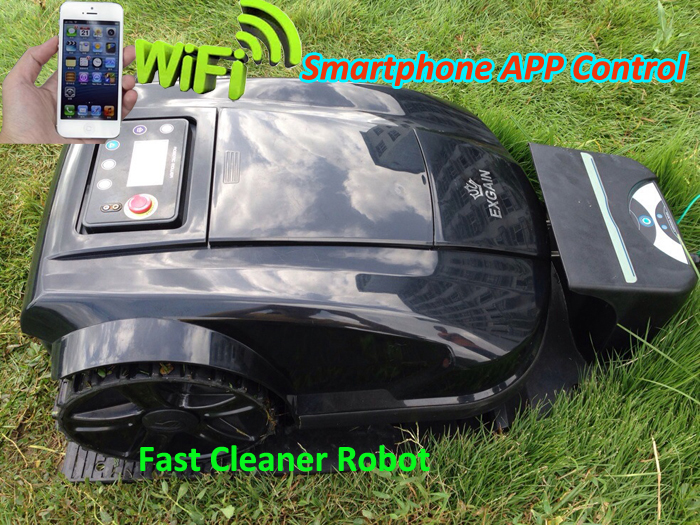 Smartphone WIFI App Robot Lawn Mower S520,Auto Recharge,Schedule,Range function,Subarea,Compass function,Language optional original robot lawn mower l600 auto recharge base 1 pc