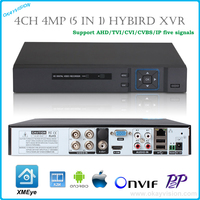 5 In 1 Security 4MP P2P Cloud DVR NVR 4CH 8CH 4MP 3MP 1080P H 264