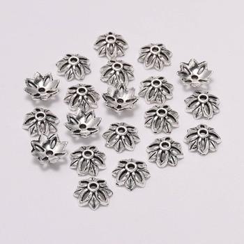 20pcs/Lot 10mm 8 Petals Tibetan  Hollow Out Flower Loose Sparer Torus End Bead Caps For Needlework Diy Accessories
