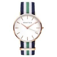 ROSEFIELD Brand Simple Men Watches Exquisite Leather Strap Charm Boy Quartz Analog Wristwatch Classic Clock Relojes