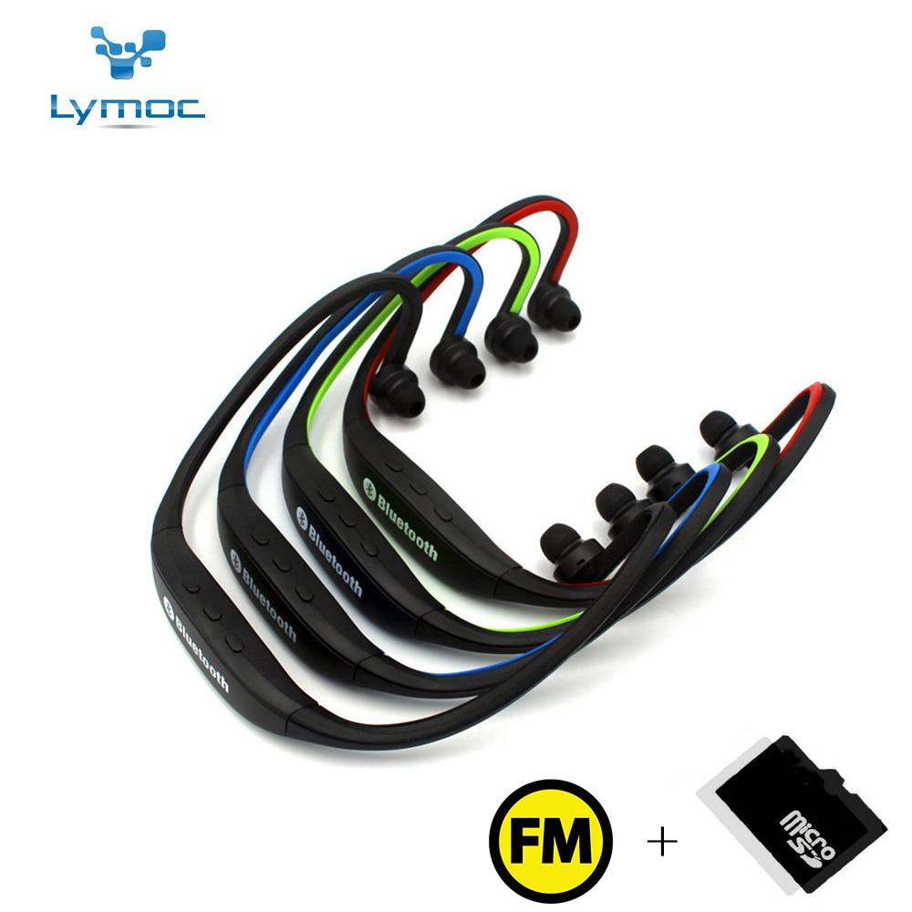 LYMOC Sport Bluetooth Headset S9 Plus FM TF Card Handsfree Wireless Earphones Stereo Headphones For iPhone