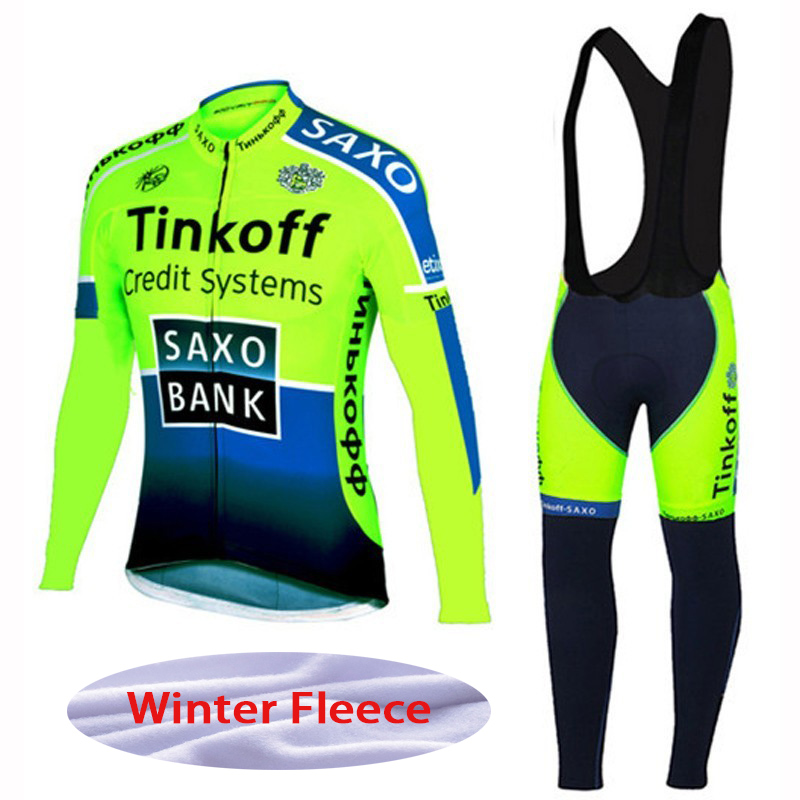 New Men Winter Thermal Fleece Pro Team Long Sleeve Cycling Jersey Ropa Ciclismo quick dry Cycling Jersey bib Pant sets Green men thermal long sleeve cycling sets cycling jackets outdoor warm sport bicycle bike jersey clothes ropa ciclismo 4 size