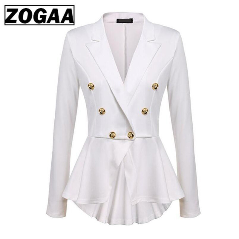 2019 Fashion Slim Fit Women Blazer Jackets Womens White Ladies Blazers Office Lady Jacket Elegant Female Solid Button Plus Size