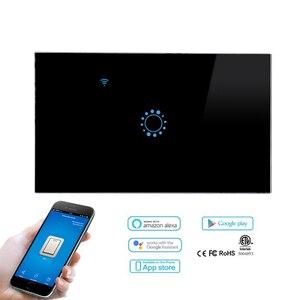 "Image 3 - ארה""ב סטנדרטי סוג 120 WiFi חכם מתג אור שליטה זכוכית פנל מגע בקרת eWelink עבודת App עם Alexa הד Google בית"