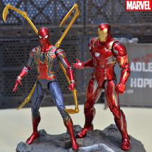 18CM Iron spider Iron Man Thor Action Figure Captain America Winter Soldier Ant-Man  Falcon Infinity War Action Figure Model Toy все цены