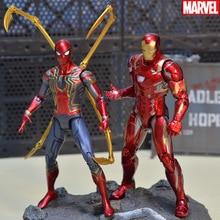 лучшая цена 18CM Iron spider Iron Man Thor Action Figure Captain America Winter Soldier Ant-Man  Falcon Infinity War Action Figure Model Toy