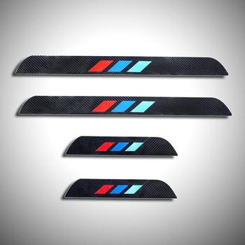 For BMW 3 series 2006-2013 E92 E93 318i 320i 325i 328i 330i 335i 320d 325d 4D M Carbon Fiber Door Sill Cover Sticker image
