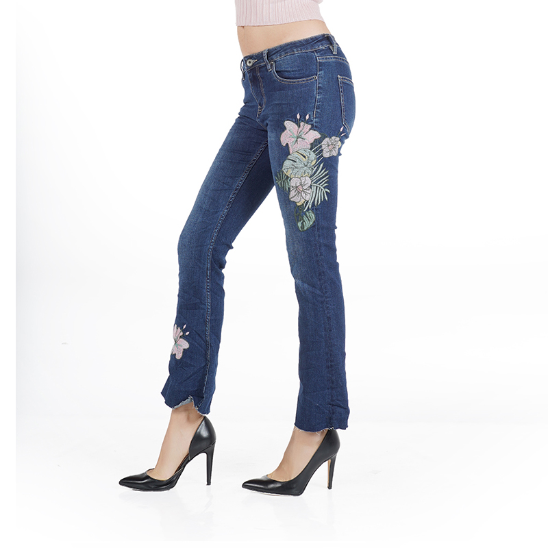 My Will Jeans Blue Jeans Fashion Laba Cropped Trousers 814 Made In China