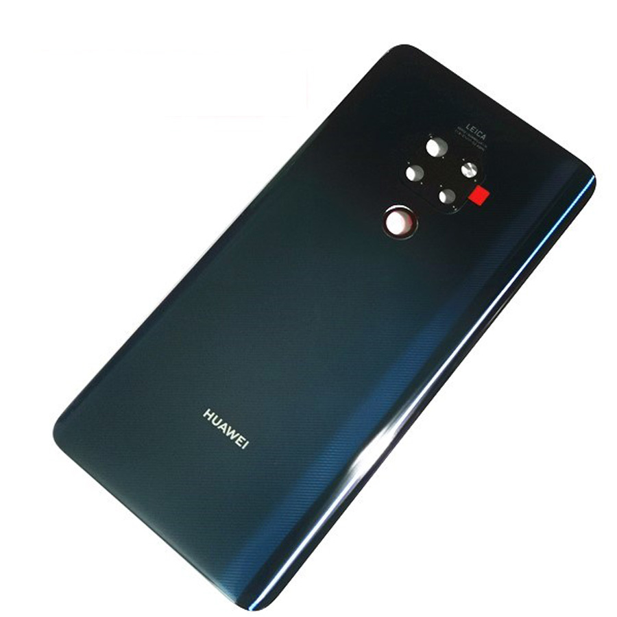 Original Material Glass Rear Housing Door For Huawei Mate 20 X Back Battery Cover Case With Camera Lens + Adhesive For Mate 20X